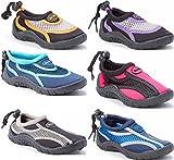 Children's Kids Water Shoes Aqua Socks Beach Pool Yoga Exercise Waterproof Durable Adjustable Toggle Unisex