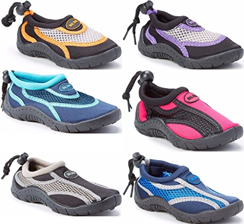 Image of Children's Kids Unisex Water Shoes - Aqua Socks Beach Pool Yoga Exercise Waterproof Boys Girls Toddler Little Big Kid