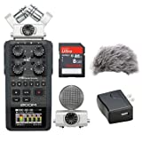 Zoom H6 Portable Recorder Kit w/ Windbuster, AD-17 AC Adapter & 16GB Memory Card