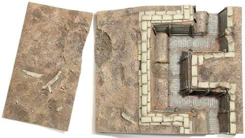 W. Britain 51014 WWI British Trench Section No.1, Infnatry Trench with Sniper Pit (Trench Section)