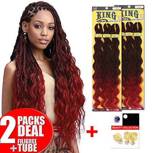 [2PACKS DEAL] Bobbi Boss King 3X Value Pre-Feathered Body Wave 28