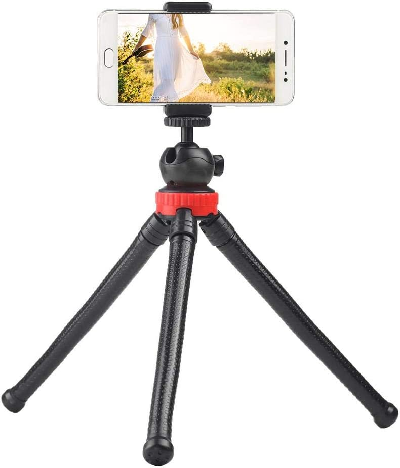 Black Yoidesu Phone /& Cameras Tripod,Portable Mini Tripod with Ball Head,Phone Mount,Flexible Tripod for Phone,Camera,Octopus Stand