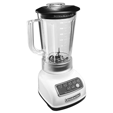 KitchenAid KSB1570WH 5-Speed Blender with 56-Ounce BPA-Free Pitcher - White