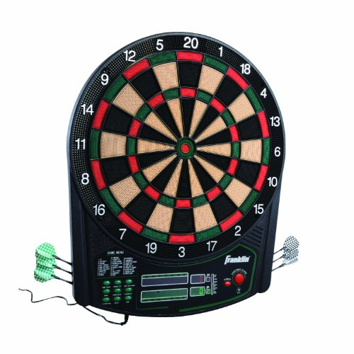 Franklin Sports FS6000 Electronic Dartboard — Digital Dartboard — Soft-Tip Dartboard — Ready-to-Play Electronic Dartboard for Kids and Adults of All Ages — Tournament-Size 15.5""
