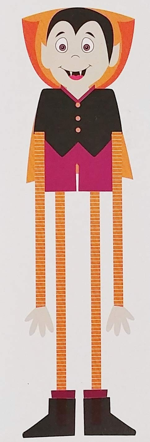 A&T Designs 48 in Vampire Dangle Leg Large Cardboard Jointed Cutout Wall Decoration for Halloween Party