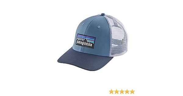 Patagonia P-6 Logo Trucker Gorra de Pesca, Hombre, Railroad Blue ...