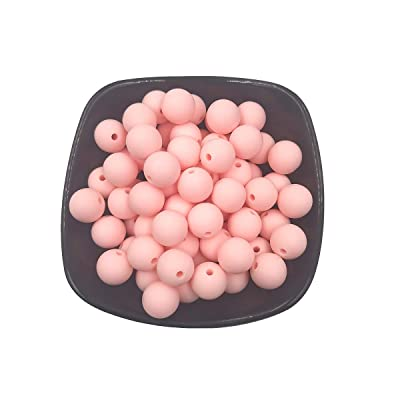 100pcs Silicone Beads 12mm Round Shaped Teether BPA Free Food Grade DIY Baby Teething Jewelry Necklace Nursing Accessories (Rose Quartz): Arts, Crafts & Sewing
