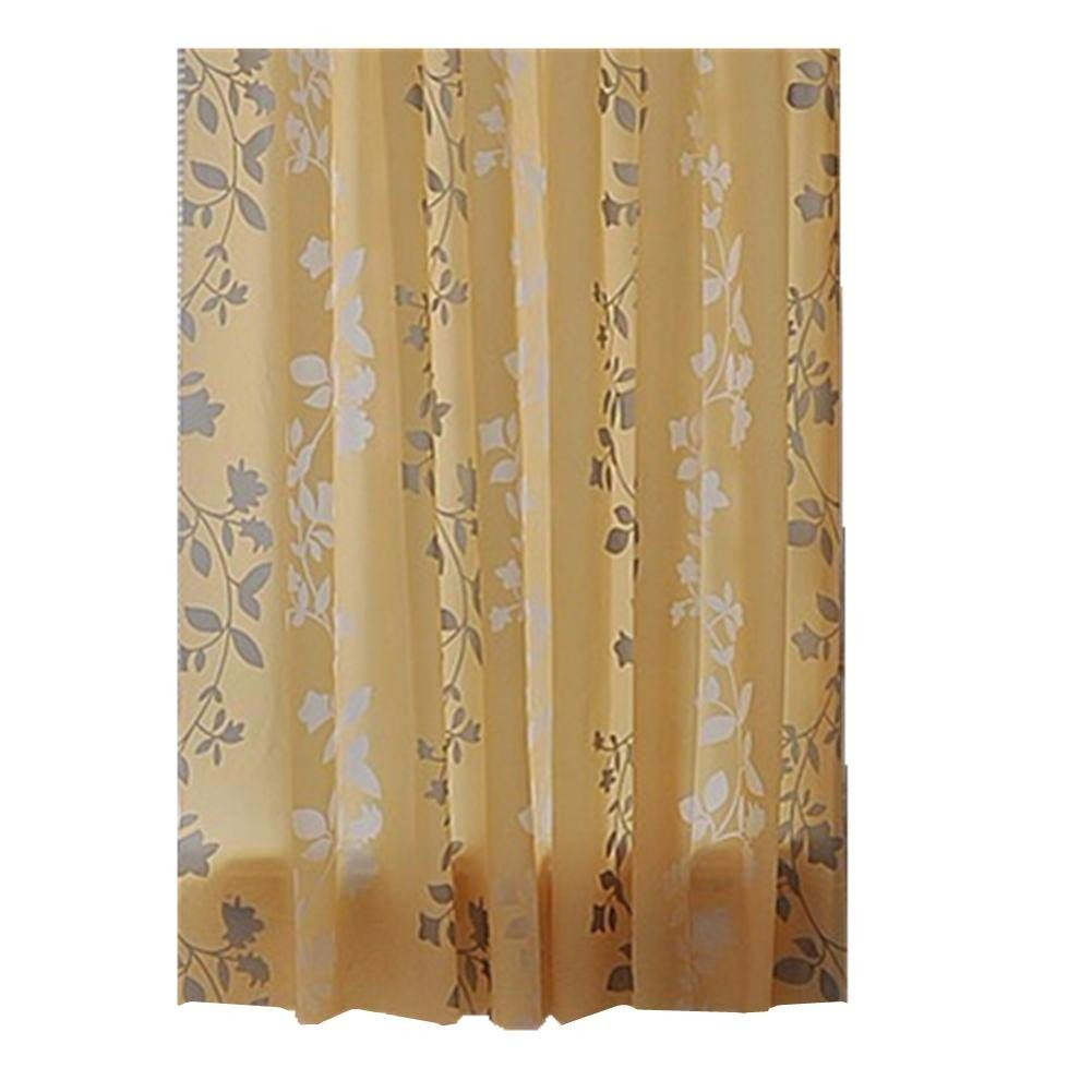 JaHGDU Shower Curtain 1pcs Shower Curtains Floral Printing Waterproof Mould Proof Resistant Thickened Shade Leaves Durable Washable Bathroom Curtain Amenities 150cm200cm (Color : 150cm200cm)