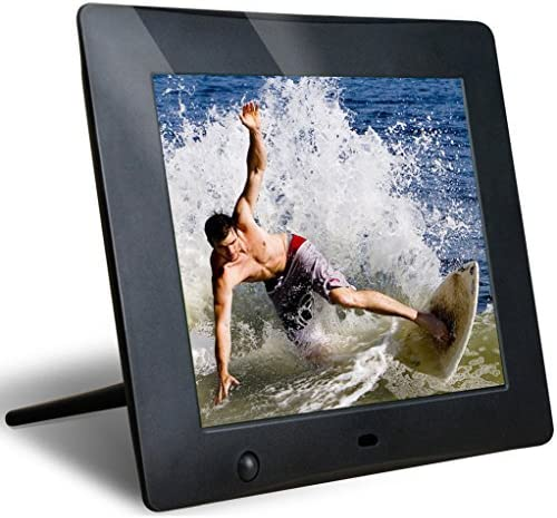 LoChan 8 Inch High Resolution Digital Photo Frame with Video Playback and Motion Sensor