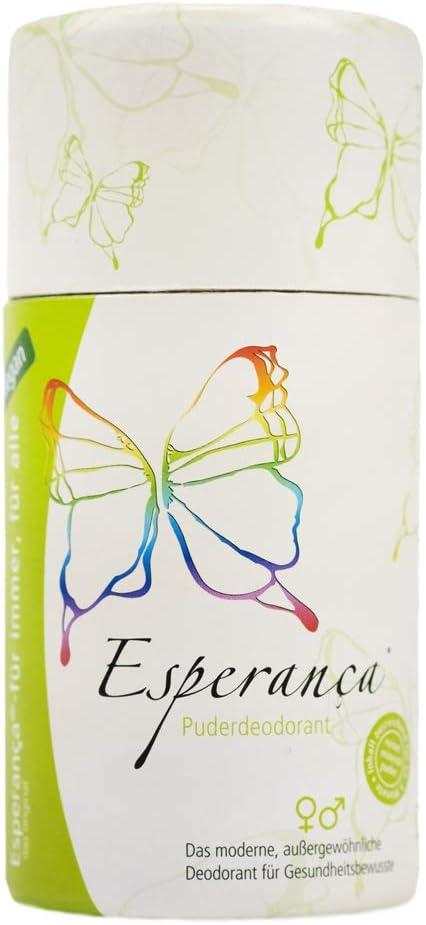 Esperanca - Desodorante sin aluminio (100% polvo mineral) – 90 g – el mejor desodorante del mundo.