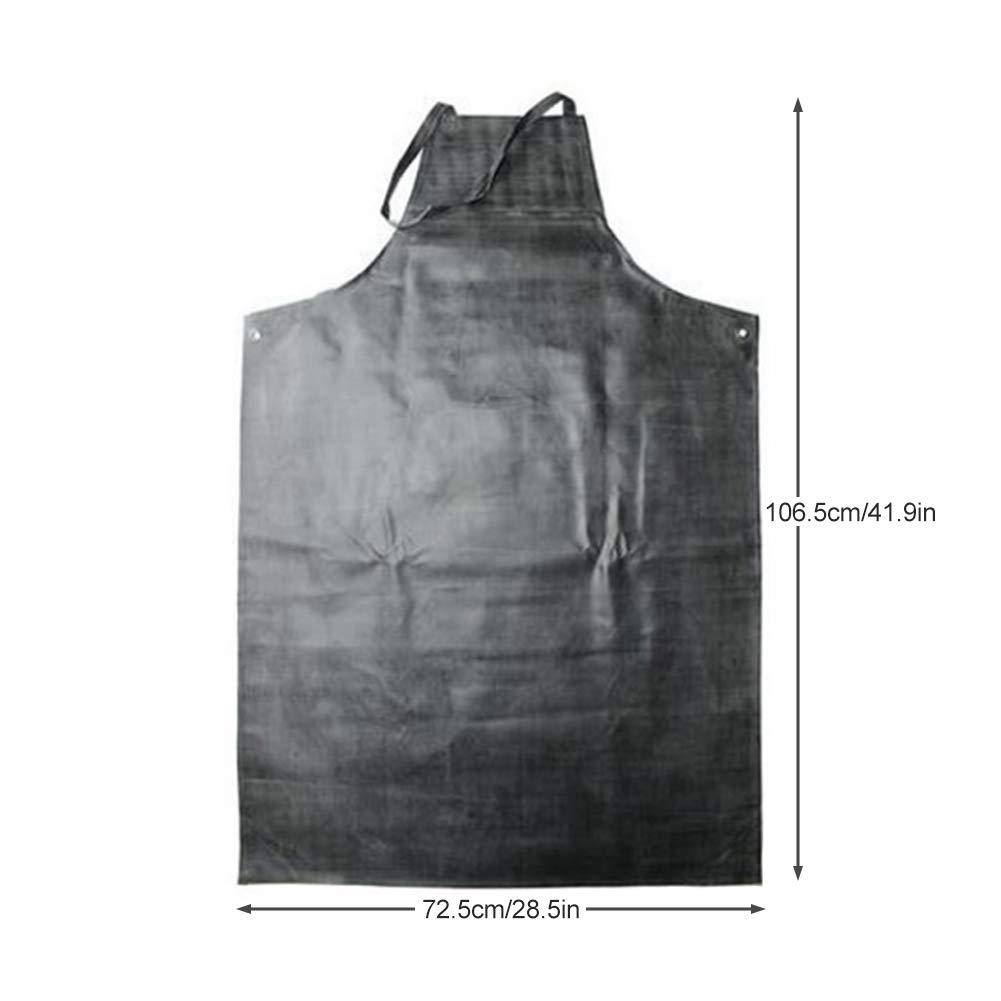 les travaux Id/éal pour le lavage de la vaisselle Tablier en caoutchouc imperm/éable Tablier de travail pour la protection anti-taches et r/ésistant aux acides et /à lhuile /à 45 /°