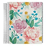 Erin Condren 12-Month 2020 Coiled Life Planner 7x9 (Jan 2020 - Dec 2020) - Watercolor Blooms, Hourly(Neutral Layout)