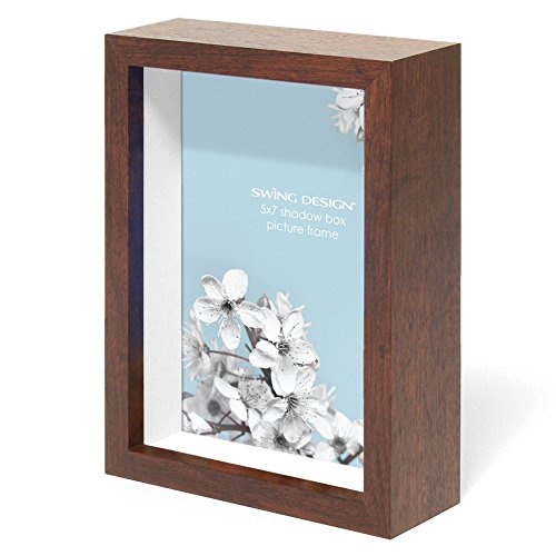 Swing Design Chroma Shadow Box Frame, 5 by 7-Inch, Walnut by Swing Design