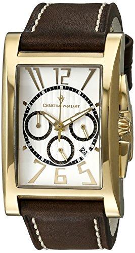 Christian Van Sant Men's CV4513 Analog Display Quartz Brown Watch