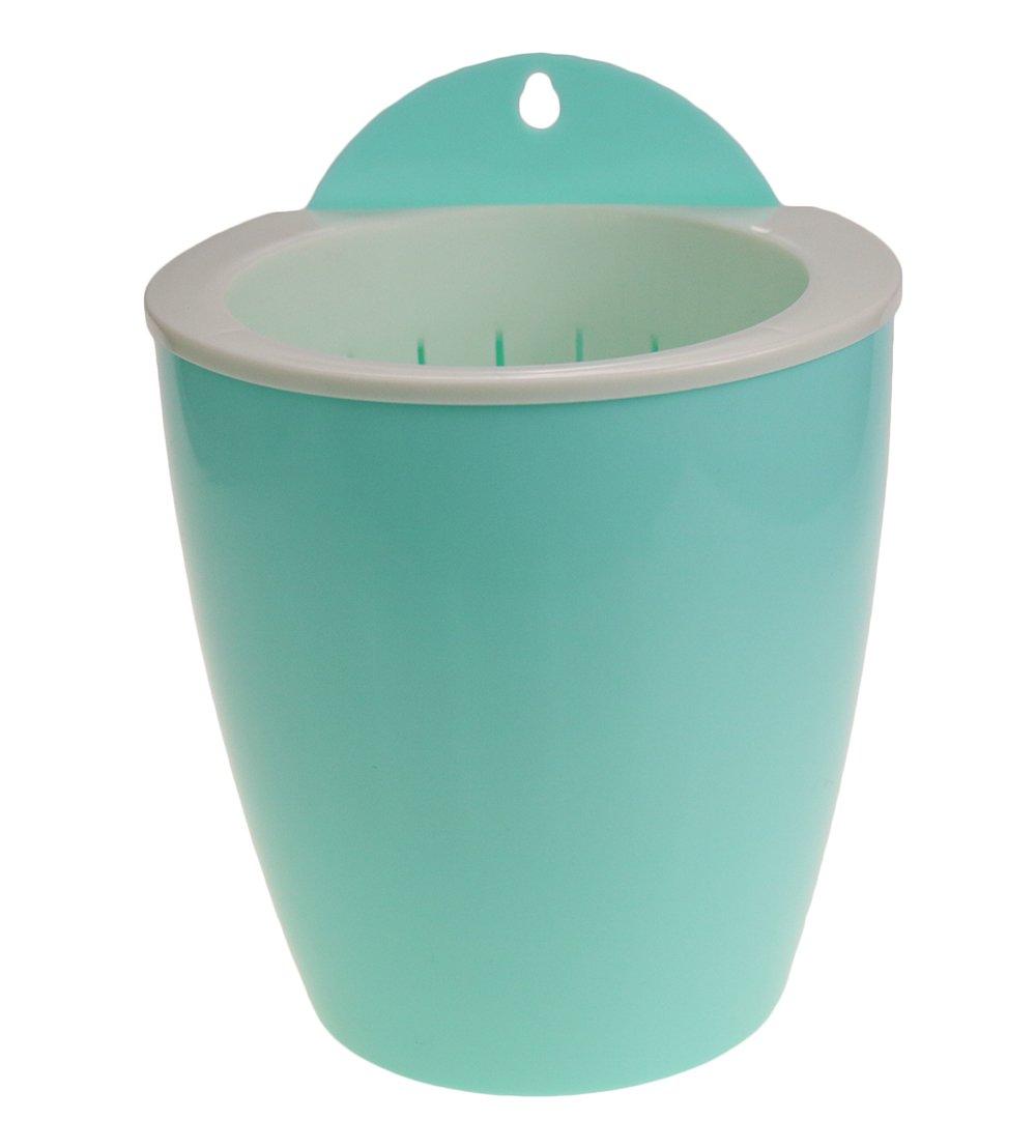"""MUZHI 5PCS Plastic Self Watering Wall Hanging Planter,Light Blue Wall Mounted Flowerpot 5"""""""