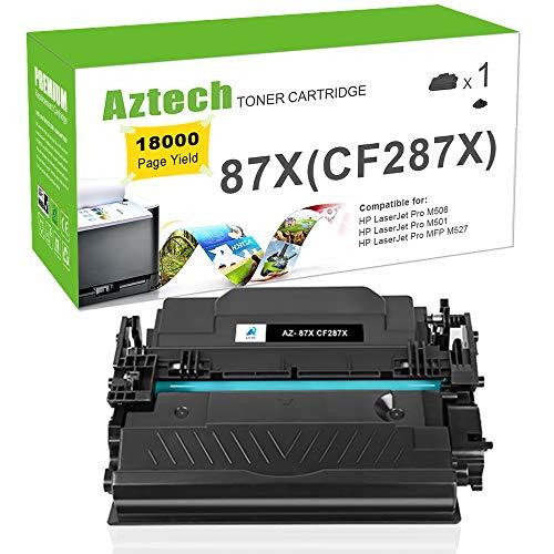 Aztech Compatible Toner Cartridge Replacement for HP 87X CF287X HP Laserjet Enterprise M506dn M506N M506X M506,HP Laserjet Pro M501dn M501N,Laserjet MFP M527Dn M527Z M527F Printer Ink-(Black,1-Pack)