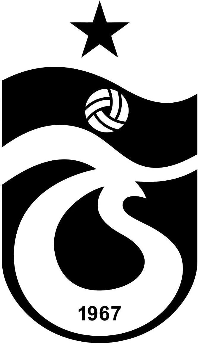 12 x 7 cm Hochleistungsfolie in der Farbe Wei/ß Logo A158 Trabzonspor Original