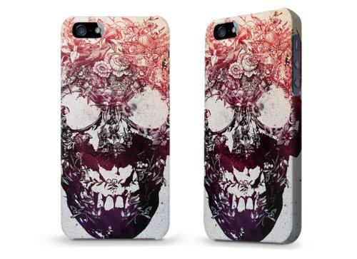"""Hülle / Case / Cover für iPhone 5 und 5s - """"Floral Skull"""" von Ali Gulec"""