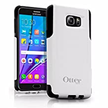 OtterBox COMMUTER SERIES Case for Samsung Galaxy NOTE 5 - Retail Packaging - White PC / Black Slip