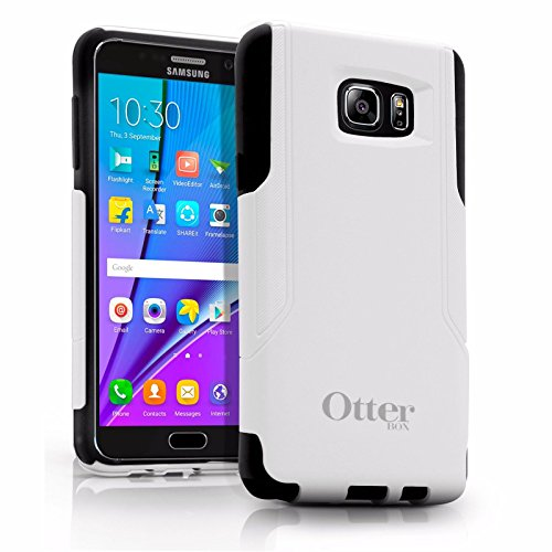 OtterBox Commuter Series Case for Samsung Galaxy Note 5 - Retail Packaging - White PC/Black Slip