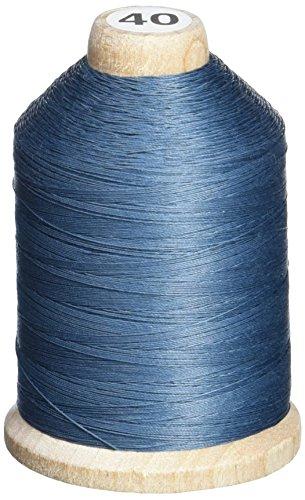 YLI 21100-014 3-Ply T-40 Cotton Hand Quilting Thread, 1000 yd, Grey - Blue (Thread Yli Quilting)