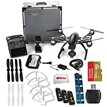YUNEEC Q500 4K Typhoon Quadcopter with CGO3-GB Camera and Aluminum Case includes SanDisk 64GB Extreme Pro microSD + High Speed Card Reader + 2 Pairs White Propeller Blades + Extra Battery & More!!!