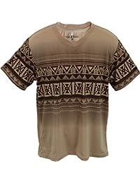 Marx & Dutch™ Short Sleeve Fashion Graphic Geometric Printed V-Neck T-Shirts 112
