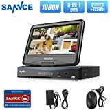 SANNCE 4CH 720P Security DVR with Build in 10.1 LCD Monitor Hybrid HVR NVR DVR All In One Home Security System, Web Server Remote Viewing & Operation & Backup, NO HDD