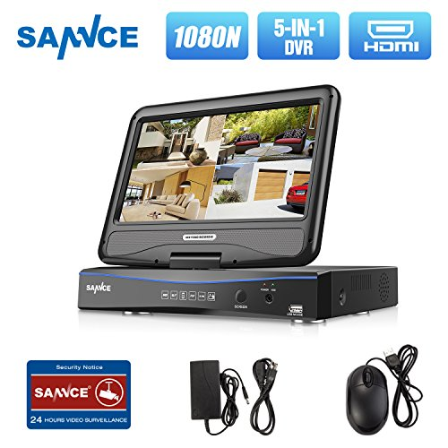 Dvr Server - SANNCE 4CH 720P Security DVR with Build in 10.1