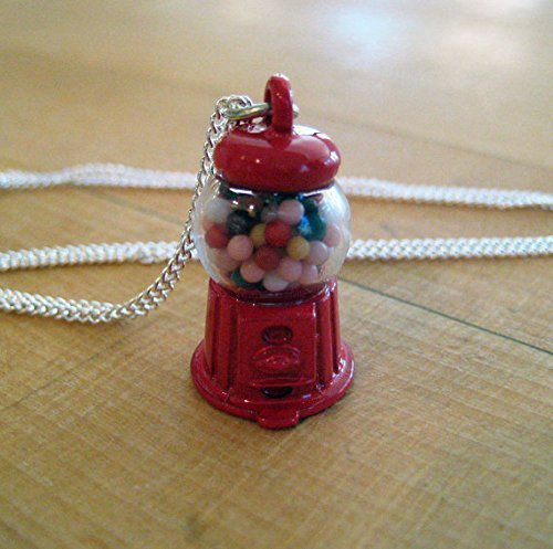 Gumball Machine Necklace - Food Jewelry - Food Necklace - Candy Necklace