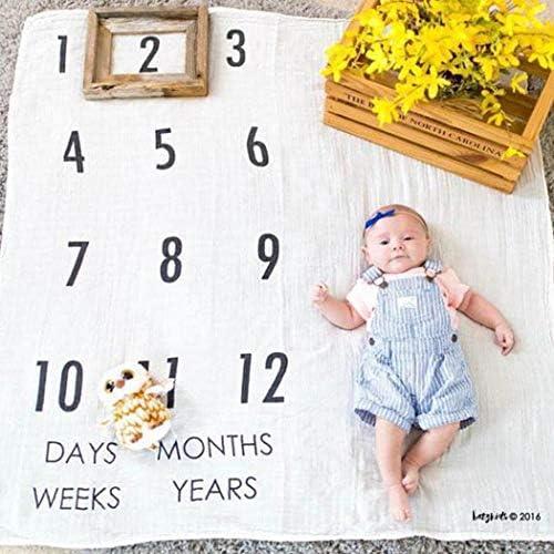 Mensual Beb/é Hito Manta Foto Mensual de Fondo de Foto de la Foto para Fotograf/ía Reci/én Nacido Beb/é Amorar Manta de Fotos Manta Mensual Bebe Manta de Hito Mensual