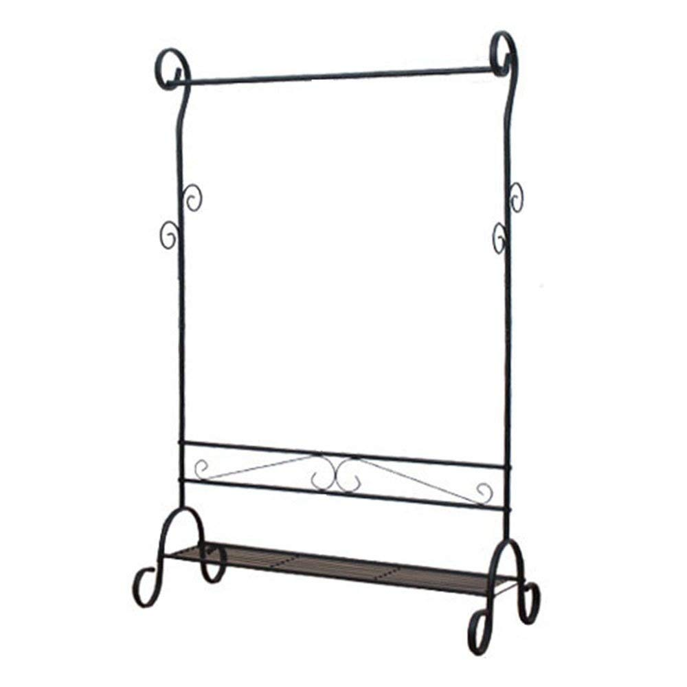 Black Floor Coat Rack Coat and Hat Rack Japanese-Style Assembly Multifunction Household Stand Wall Hanger color Black Haiming (color   Black)