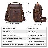 Men's Bag, Hiram Leather Messenger Bag for