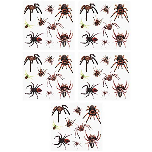(Garosa Halloween Temporary Tattoo Blood Wound Scar 3D Spider for Trick or Treat Party Cosplay Coustume Horror House Decoration(#)