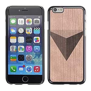 Funda Cubierta Madera de cereza Duro PC Teléfono Estuche / Hard Case for Apple Iphone 6 Plus 5.5 / Phone Case TECELL Store / Patrón Pirámide Polígono Triángulo Pyramid Polygon Triangle Pattern
