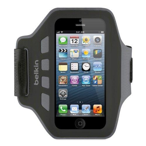 Belkin Ease-Fit Armband with Adjustable Strap for iPhone 5/5s/5c/SE (Black)