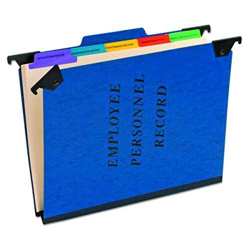 Pendaflex SER2BL Personnel Folders, 1/3 Cut Hanging Top Tab, Letter, Blue - Esselte Recycled Hanging Classification Folder