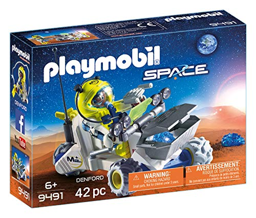 For children ages 6 PLAYMOBIL Space 9489 Mars Research Vehicle