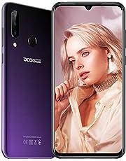 DOOGEE N20 (2019) smartphone zonder contract, P23 octa-core 4 GB RAM 64 GB ROM, 6,3 inch FHD + waterdrop-beeldscherm, Android 9.0 4 G LTE, 16 MP + 8 MP + 16 MP, 4350 mAh, 10 W snellading, lila