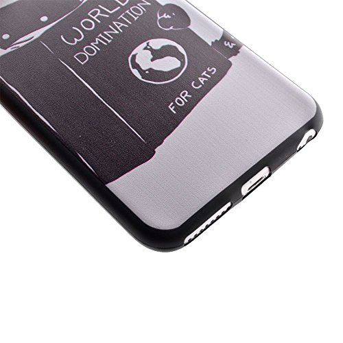 "HYAIT® For IPHONE 6 4.7"" [XXG BLACK V1]Scratch-Proof Ultra Thin Rubber Gel TPU Soft Silicone Bumper Case Cover -BKI10"