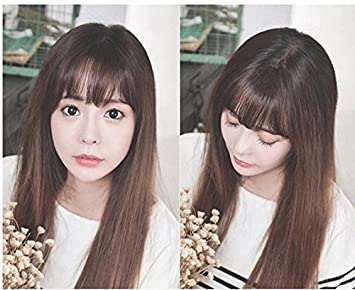 amazon com ms thin piece of real hair wig bangs realistic natural