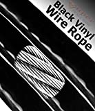 1000 Ft 1/16 - 3/32 Black Vinyl Wire Rope Coated Aircraft Cable Choose Size/Quantity In Listing Super-Deals-Shop