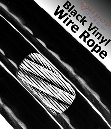 Discount 250 / - Black Vinyl Wire Rope Coated Aircraft Cable Choose Size/Quantity Listing Super-Deals-Shop
