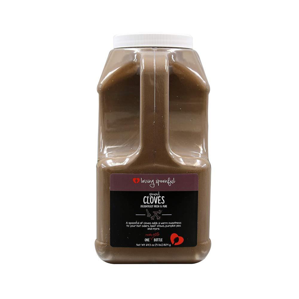Loving Spoonful 64.3oz (1824g) Premium Ground Cloves   Food Service 4lb Bulk Size (Jug)