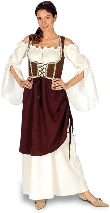 Vestido Tabernera - Disfraz medieval Mujer - 44/46: Amazon.es ...