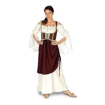 Vestido Tabernera - Disfraz medieval Mujer - 44/46: Amazon ...