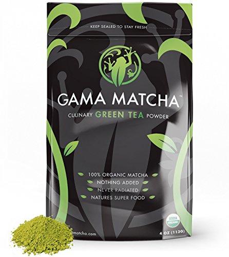 100% ORGANIC Matcha Green Tea Powder USDA Stone Ground (4 oz / 22 Servings) SUPER FOOD for Smoothies, Lattes & Baking Culinary Matcha Powder - Organic Matcha Green Tea Powder - Gluten Free