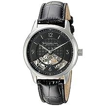 Stuhrling Original Men's 977.02 Legacy Analog Display Mechanical Hand Wind Black Watch