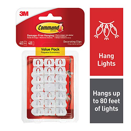 Command Light Clips, White (17026-40ES)