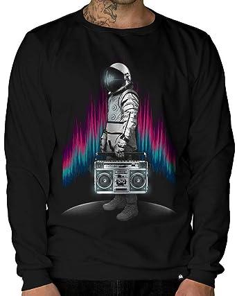 d4bca7f11e6e INTO THE AM Astroblaster Men s Graphic Crewneck Sweatshirt (X-Small)